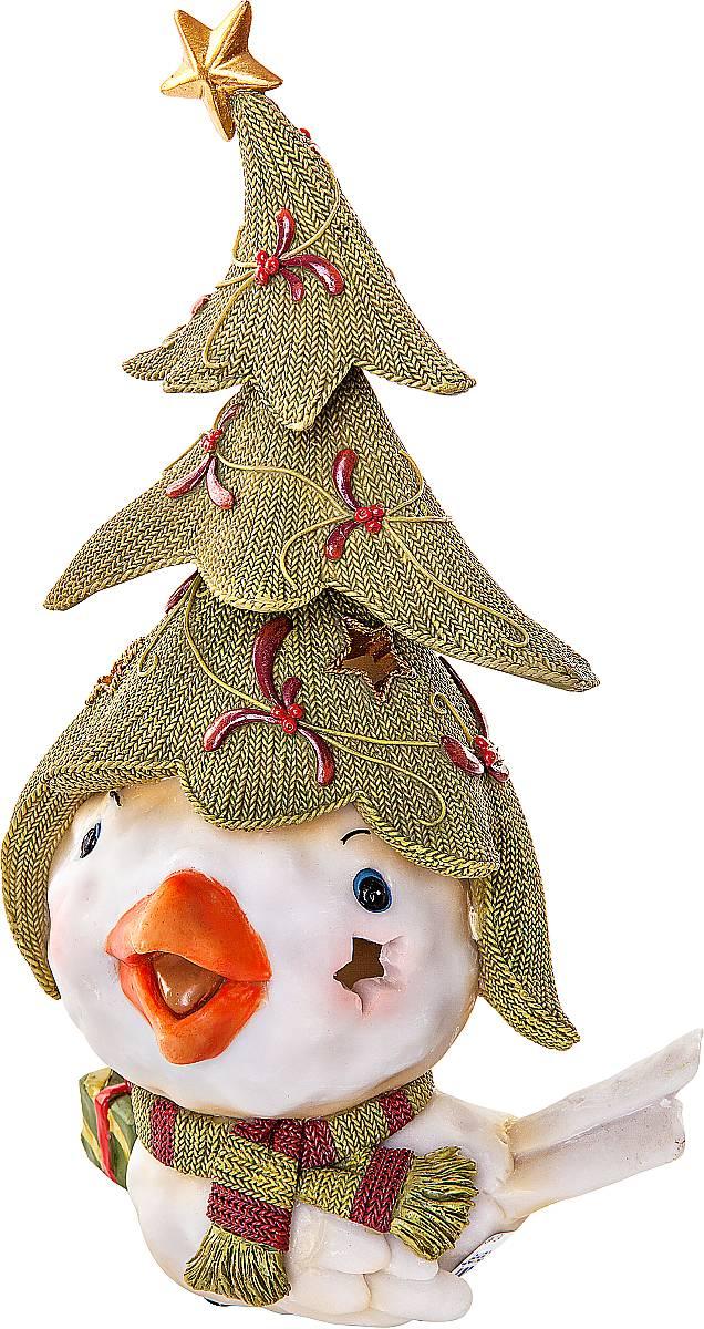Статуэтка Mister Christmas Птичка с елкой, высота 26 смSM-12AСтатуэтка Mister Christmas Птичка с елкой выполнена из полистоуна в виде забавной птички. Она привлекает к себе внимание и буквально умиляет, заставляя улыбнуться. Такой сувенир станет отличным подарком родным или друзьям на Новый год, а также он украсит интерьер вашего дома или офиса. Высота статуэтки: 26 см.