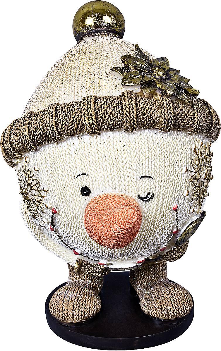 Статуэтка Mister Christmas Снеговик, высота 13 смSM-5BСтатуэтка Mister Christmas Снеговик выполнена из полистоуна в виде забавного снеговика. Она привлекает к себе внимание и буквально умиляет, заставляя улыбнуться. Такой сувенир станет отличным подарком родным или друзьям на Новый год, а также он украсит интерьер вашего дома или офиса. Высота статуэтки: 13 см.