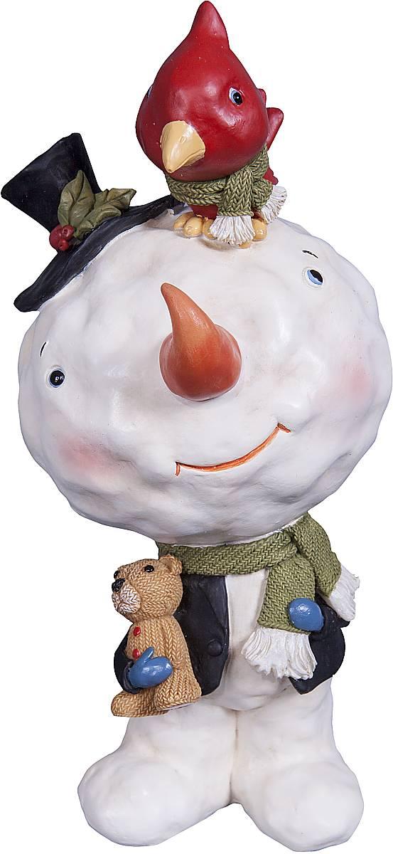Статуэтка Mister Christmas Снеговик, цвет: белый, красный, черный, высота 14,5 смSM-7AСтатуэтка Mister Christmas Снеговик выполнена из полистоуна в виде забавного снеговика. Она привлекает к себе внимание и буквально умиляет, заставляя улыбнуться. Такой сувенир станет отличным подарком родным или друзьям на Новый год, а также он украсит интерьер вашего дома или офиса. Высота статуэтки: 14,5 см.