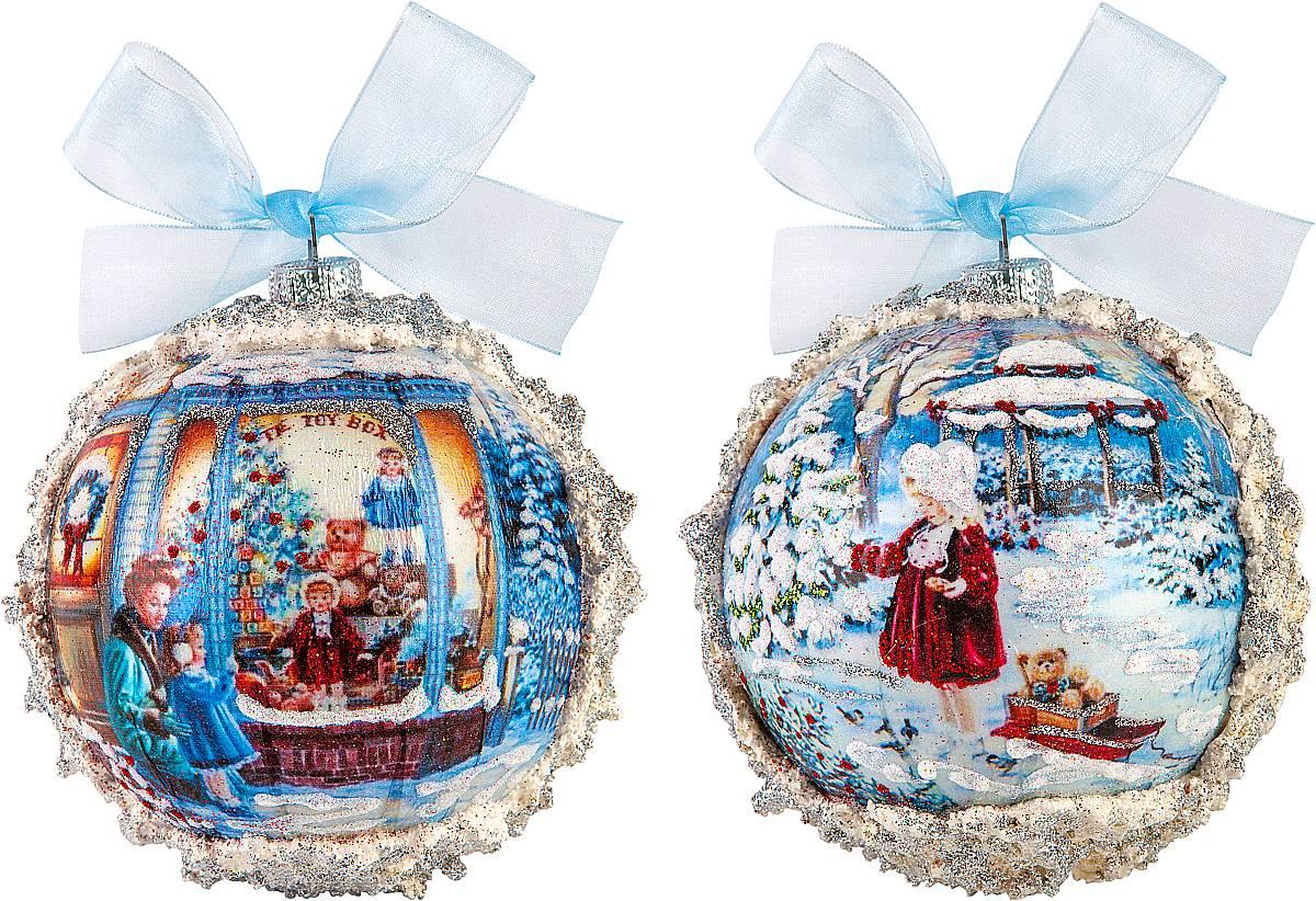 Набор новогодних подвесных украшений Mister Christmas Коллекционные шары, диаметр 10 см, 2 штNLED-444-7W-BKНабор подвесных украшений Mister Christmas Коллекционные шары прекрасно подойдет для праздничного декора новогодней ели. Набор состоит из двух украшений, выполненных из ПВХ. Для удобного размещения на елке для каждого украшения предусмотрена петелька в виде бантика. Елочная игрушка - символ Нового года. Она несет в себе волшебство и красоту праздника. Создайте в своем доме атмосферу веселья и радости, украшая новогоднюю елку нарядными игрушками, которые будут из года в год накапливать теплоту воспоминаний.