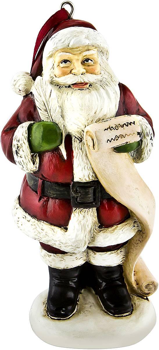 Украшение новогоднее подвесное Mister Christmas Дед Мороз, высота 10 см. TM-A-3TM-A-3Украшение новогоднее декоративное Mister Christmas Дед Мороз прекрасно подойдет для праздничного декора вашего дома. Изделие выполнено из полистоуна и оснащено петелькой для подвешивания. Новогодние украшения несут в себе волшебство и красоту праздника. Они помогут вам украсить дом к предстоящим праздникам и оживить интерьер. Создайте в доме атмосферу тепла, веселья и радости, украшая его всей семьей. Кроме того, такая игрушка станет приятным подарком, который надолго сохранит память этого волшебного времени года. Высота украшения: 10 см.