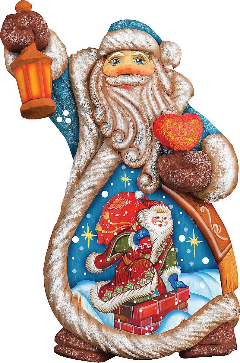 Украшение новогоднее подвесное Mister Christmas Дед Мороз, коллекционное, высота 10 см. US 66122424143 0Коллекционное украшение Mister Christmas Дед Мороз прекрасно подойдет для праздничного декора вашего дома. Изделие выполнено из полистоуна и оснащено петелькой для подвешивания. Новогодние украшения несут в себе волшебство и красоту праздника. Они помогут вам украсить дом к предстоящим праздникам и оживить интерьер. Создайте в доме атмосферу тепла, веселья и радости, украшая его всей семьей.Кроме того, такая игрушка станет приятным подарком, который надолго сохранит память этого волшебного времени года.Высота украшения: 10 см.