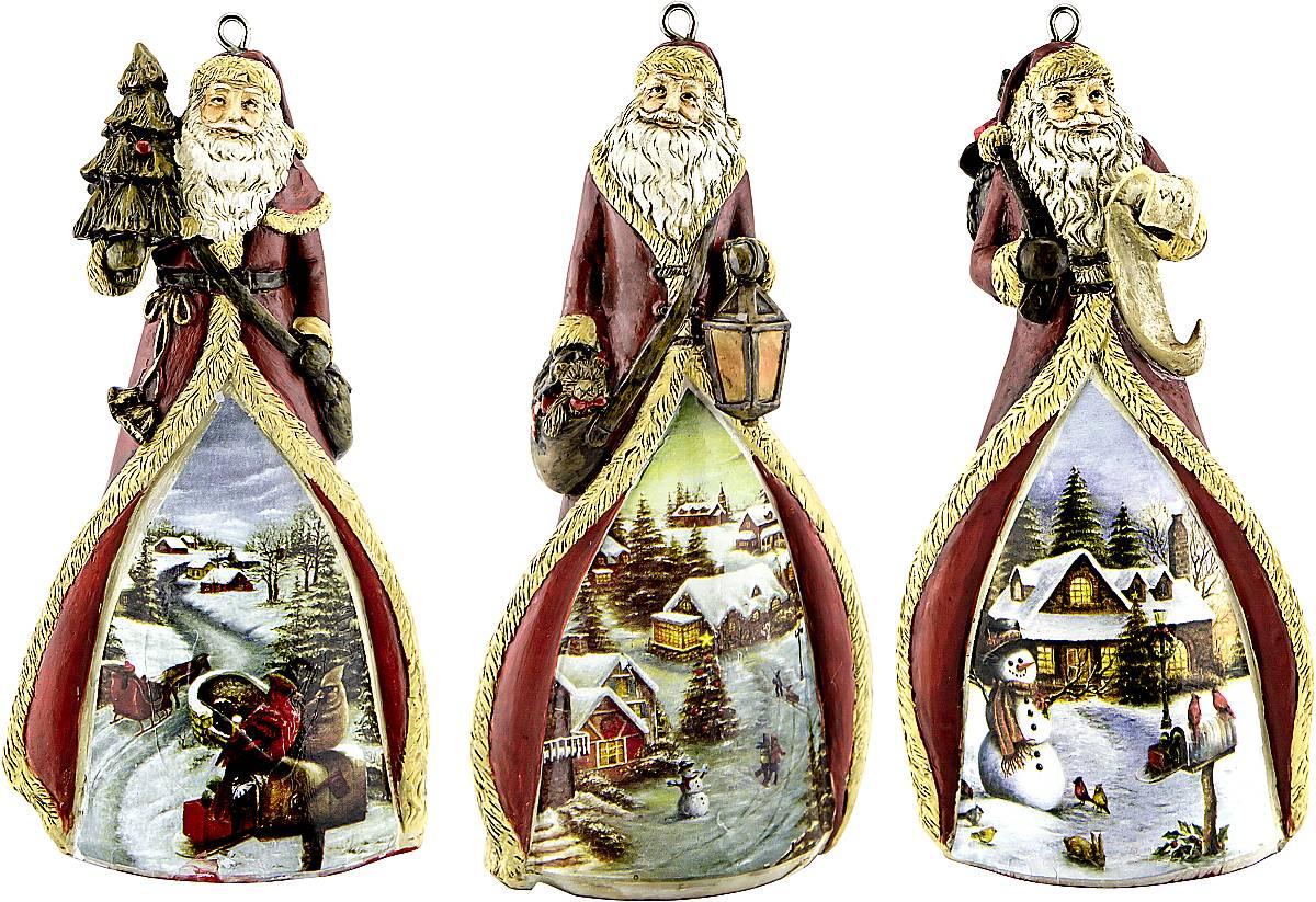 Набор новогодних подвесных украшений Mister Christmas Дед Мороз, высота 11 см, 3 штTM-D-SET/1Набор подвесных украшений Mister Christmas Дед Мороз прекрасно подойдет для праздничного декора новогодней ели. Набор состоит из 3 украшений, выполненных из керамики. Для удобного размещения на елке для каждого украшения предусмотрена петелька. Елочная игрушка - символ Нового года. Она несет в себе волшебство и красоту праздника. Создайте в своем доме атмосферу веселья и радости, украшая новогоднюю елку нарядными игрушками, которые будут из года в год накапливать теплоту воспоминаний.