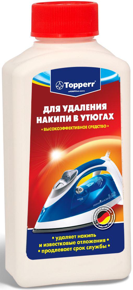 Средство от накипи для утюгов Topperr, 250 мл3003Концентрированное средство Topperr для очистки от накипи утюгов за счет высокой концентрации эффективно удаляет образовавшийся в процессе использования известковый налет. Бережно относится к внутренним деталям утюга и продлевает срок службы. Не токсично. Способ применения: Наполните емкость на 2/3 водой и 1/3 средством от накипи. Нагрейте утюг в вертикальном положение и в паровом режиме. Когда он нагреется, выключите его из сети и поставьте горизонтально. Подождите 2 часа, чтобы средство подействовало. Вылейте средство и промойте емкость несколько раз. Снова заполните емкость водой, нагрейте утюг и несколько раз нажмите кнопку подачи пара. Тщательно очистите основание. Перед глаженьем одежды примените паровую функцию на малочувствительной материи. Если известковое отложение не удаляется, повторите операцию, возможно, добавив в раствор больше средства от накипи.