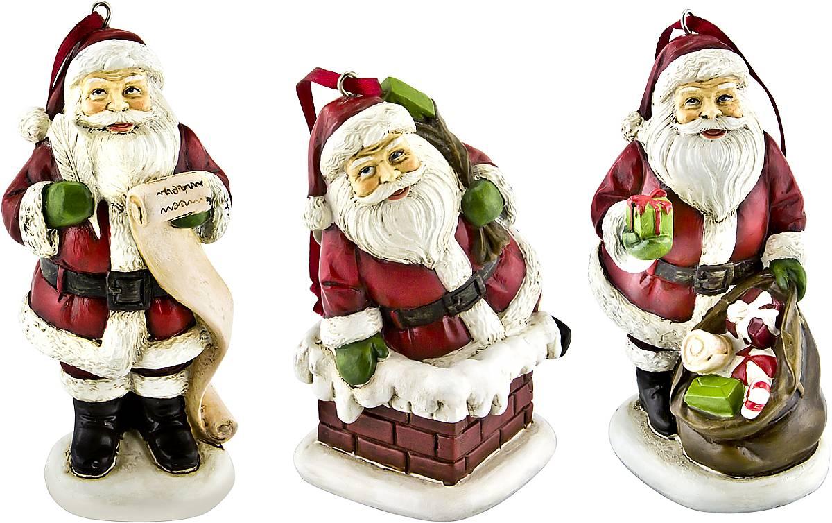 Набор новогодних подвесных украшений Mister Christmas Дед Мороз, высота 10 см, 3 штTM-A-SET/3Набор подвесных украшений Mister Christmas Дед Мороз прекрасно подойдет для праздничного декора новогодней ели. Набор состоит из двух украшений, выполненных из полистоуна. Для удобного размещения на елке для каждого украшения предусмотрена петелька. Елочная игрушка - символ Нового года. Она несет в себе волшебство и красоту праздника. Создайте в своем доме атмосферу веселья и радости, украшая новогоднюю елку нарядными игрушками, которые будут из года в год накапливать теплоту воспоминаний. Средняя высота украшений: 10 см.
