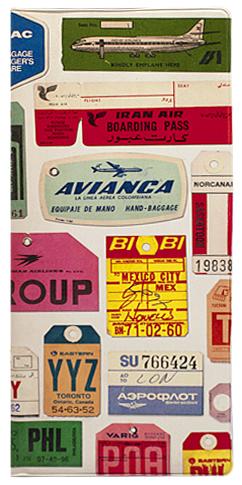 """Обложка для документов Kawaii Factory """"Vintage TAGS"""", цвет: бежевый, красный. KW066-000011"""