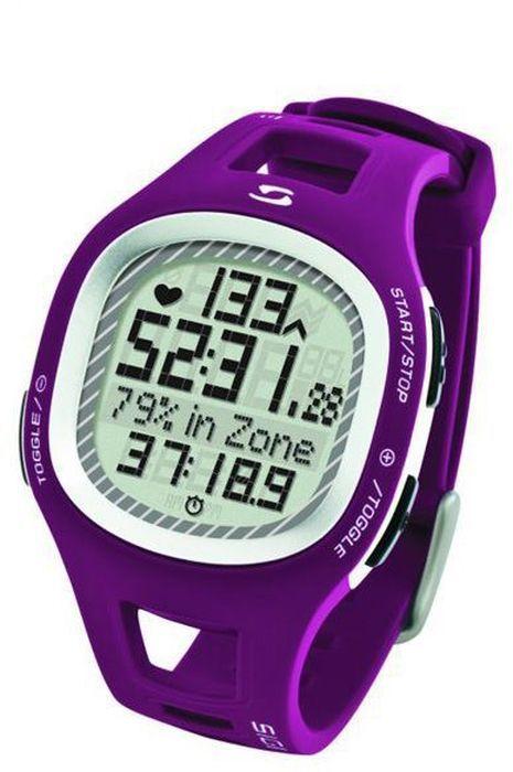 Пульсометр Sigma PC10.11, 10 функций, цвет: пурпурныйSIG_21011Пульсометр (кардиомонитор, монитор сердечного ритма) представляет из себя портативное устройство определяющее ваш пульс. Современные пульсометры снабжены и многими другими полезными функциями - подбор программы индивидуальной тренировки, определение максимальной скорости, беговой индекс, определение кол-ва сожженных во время тренировки калорий и пр. Особенности: влагозащищенный ЭКГ-точность 3 кнопки Функции: тренировочный менеджер с 1 программируемой зоной текущий, максимальный и средний пульс счетчик калорий время тренировки и время в процентах для каждой тренировочной зоны звуковой и визуальный индикатор зон индикация зарядки батарейки Комлектация: Часы-пульсометр Аналоговый нагрудный передатчик + ремень к нему Русская инструкция