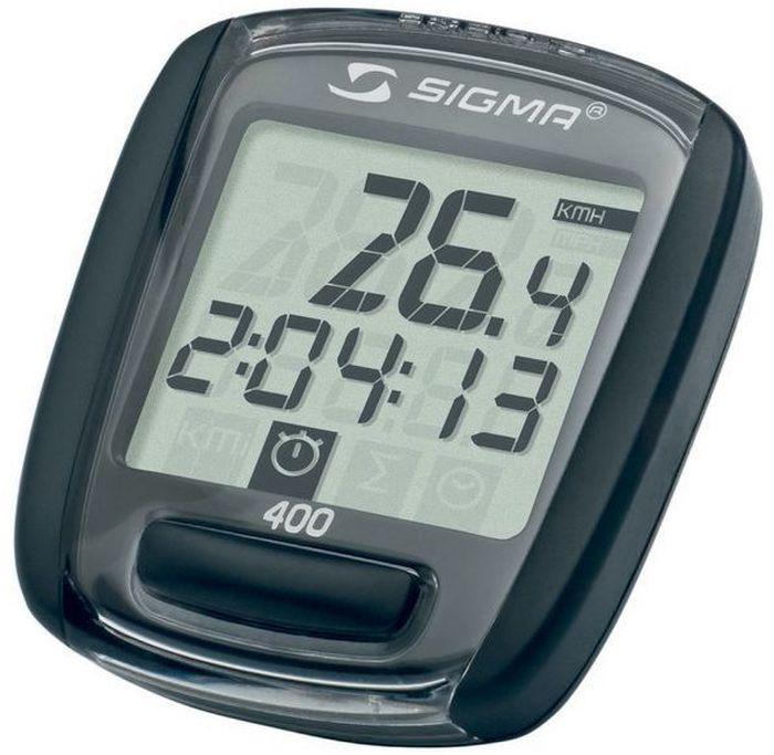 Велокомпьютер Sigma BC 400 Baseline, 4 функцииSIG_59104 функций (автоматическая смена режимов) Скорость Пробег за день Общий пробег Время в пути