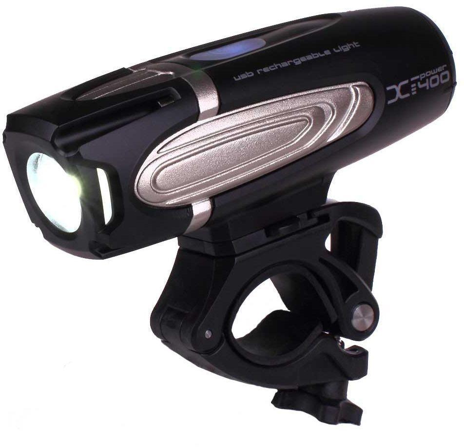 Фонарь передний Moon X-Power400, 1 диод, 7 режимовWP_X-Power400_WОсобенности CREE XM-L (T5) Сверх-яркие LED светодиоды Быстросъемная lithium ion батарея(3.7V 3300mAh) USB зарядка 7 вариантов работы: Максимум/ Высоко/ Стандарт/ Низко/Вспышка / Страбоскоп /SOS Быстросъемное крепление на руль ( 22-31.8mm) Быстросъемное крепление на шлем Индикатор разряда и полной зарядки аккумулятора Функция автоматического отключения при полной зарядке Четкие оптические линзы Система охлаждения Защита от перегрева Размер:117 x 36 x 35.5 mm