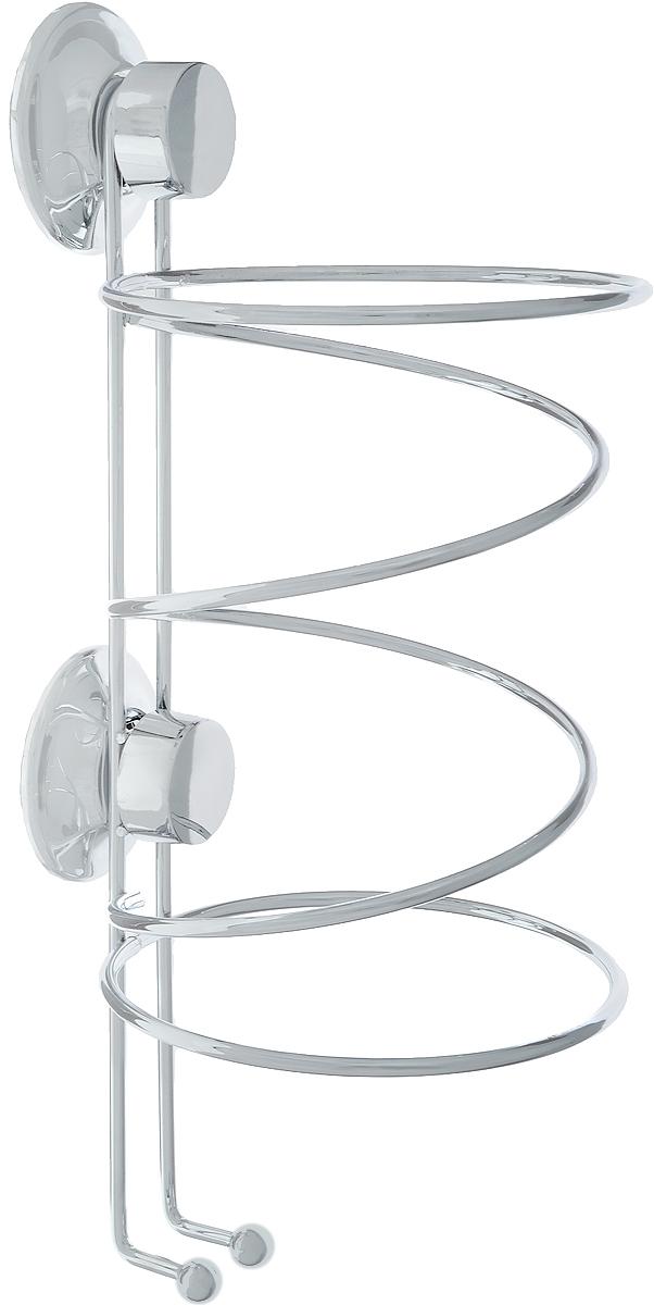 Держатель для фена Tatkraft Swiss Line, 12 см х 12 см х 26,5 см10204-TKДержатель для фена Tatkraft Swiss Line. Быстро и надежно устанавливается на любой воздухонепроницаемой поверхности. Классическая вакуумная система EVERLOC стала еще надежней благодаря: Мембране из натурального каучука, Силиконовому напылению, Винту Архимеда, Специальному кольцу для защиты от перекручивания винта. Характеристики: Диаметр присоски: 5,5 см. Размер держателя: 12 см х 12 см х 26,5 см. Максималная нагрузка: 20 кг. Размер упаковки: 27 см х 12,5 см х 12,5 см.