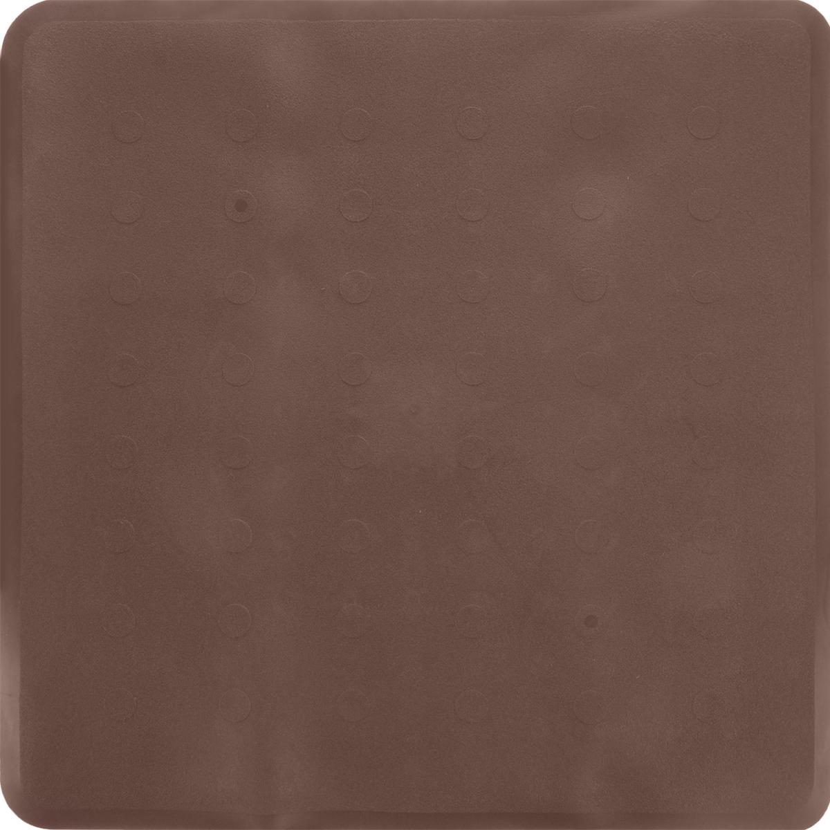 Коврик для ванной Ridder Basic, противоскользящий, на присосках, цвет: коричневый, 51 х 51 см167408Коврик для ванной Ridder Basic, изготовленный из каучука с защитой от плесени и грибка, создает комфортное антискользящее покрытие в ванне. Крепится к поверхности при помощи присосок. Изделие удобно в использовании и легко моется теплой водой.