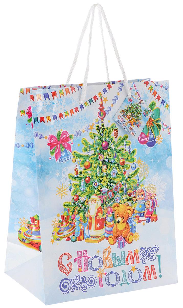 """Пакет подарочный Феникс-Презент """"Новогодняя елка"""", 26 x 13 х 33 см 35200"""