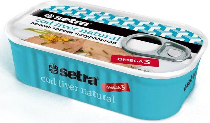 Setra печень трески натуральная, 120 г0120710Изготовлено из свежей печени атлантической трески сразу после вылова и обработки рыбы.