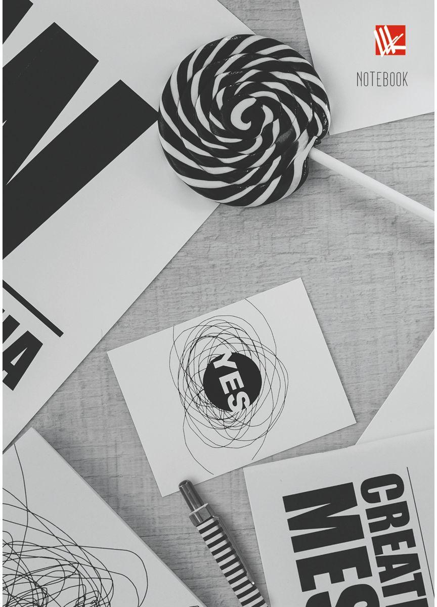 Канц-Эксмо Записная книжка Офисный стиль Креатив 80 листов в клетку94037СЗаписная книжка в твердом переплете А6, 80 листов. Обложка с глянцевой ламинацией. Форзацы белые. Бумага – офсет 60 г/м2, клетка. Сшитый блок.