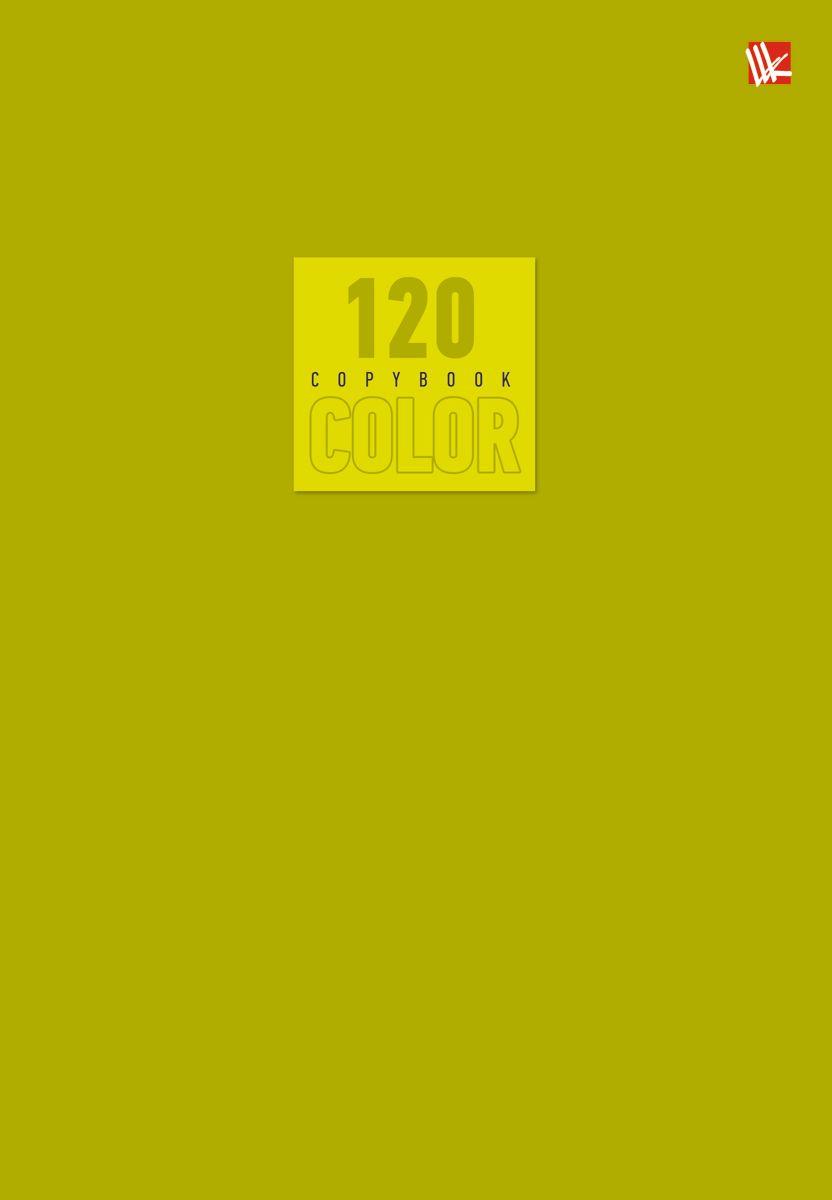 Канц-Эксмо Тетрадь Стиль и цвет 120 листов в клетку цвет оливковыйТ51205169Тетрадь А5- 120 листов на швейно-клеевом креплении, клетка. Обложка мелованный картон повышенного качества, матовая ламинация. Бумага офсет 60г/м2