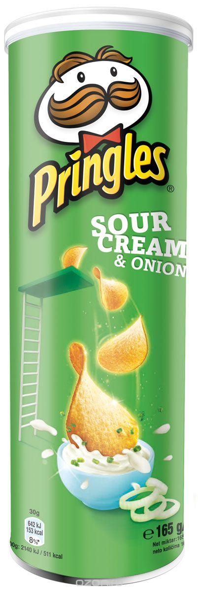 Pringles картофельные чипсы со вкусом сметаны и лука, 165 г0120710Картофельные чипсы Pringles со вкусом сметаны и лука подарят вам неповторимый вкус этого совершенного сочетания.Уважаемые клиенты! Обращаем ваше внимание на то, что упаковка может иметь несколько видов дизайна. Поставка осуществляется в зависимости от наличия на складе.