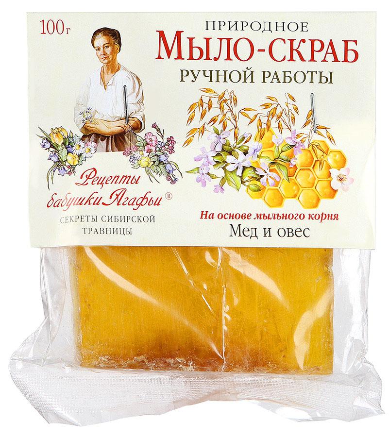 Рецепты бабушки Агафьи Мыло-скраб Мед и овес, 100 гр4605845001470Природное мыло-скраб с увлажняющим эффектом для мягкого ухода за нежной, чувствительной кожей.Мыльный корень – это натуральная, хорошо пенящаяся основа, которая намного мягче, чем щелочная, используемая обычно. Овсяные зерна глубоко очищают кожу, а мед и природные мас- ла, легко проникая в открывшиеся поры, насыщают ее полезными веществами и необходимыми микроэлементами. Кожа приобретает упругость и шелковистость.