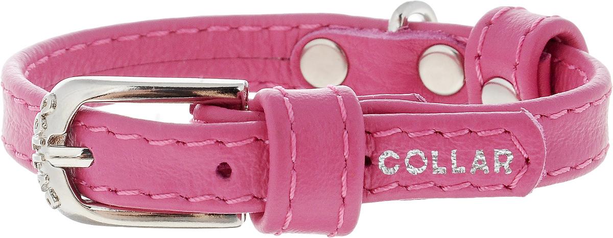 """Ошейник для собак """"CoLLaR Glamour"""", цвет: розовый, ширина 9 мм, обхват шеи 18-21 см. 3200 32007"""