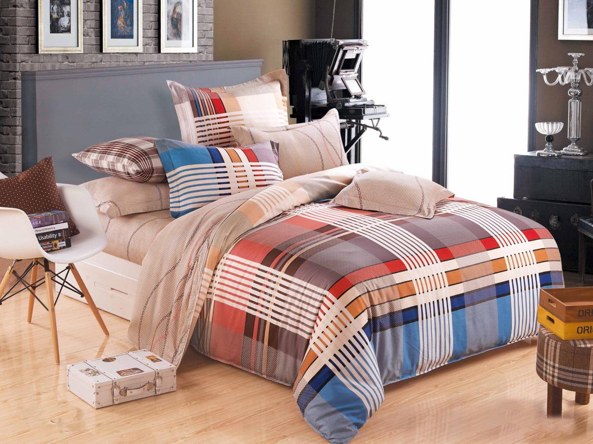Комплект белья Cleo Антураж, 1,5-спальный, наволочки 70x70, цвет: коричневый. 15/292-SP