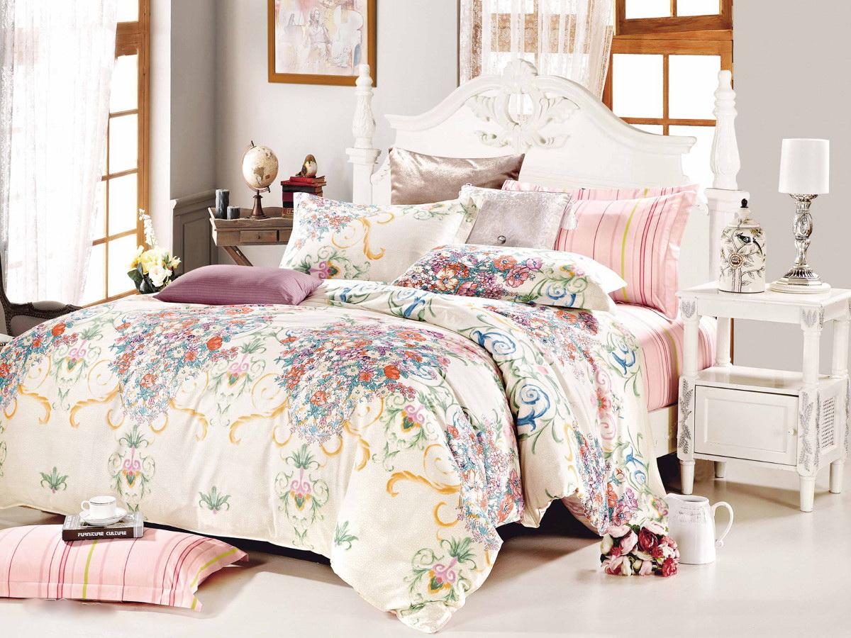 Комплект белья Cleo Голландия, 2-спальный, наволочки 70x70, цвет: бежевый. 20/273-SP