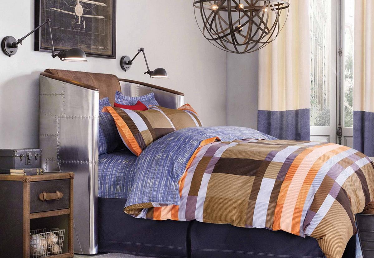 Комплект белья Cleo Стиляга, 2-спальный, наволочки 70x70, цвет: коричневый. 20/280-SP