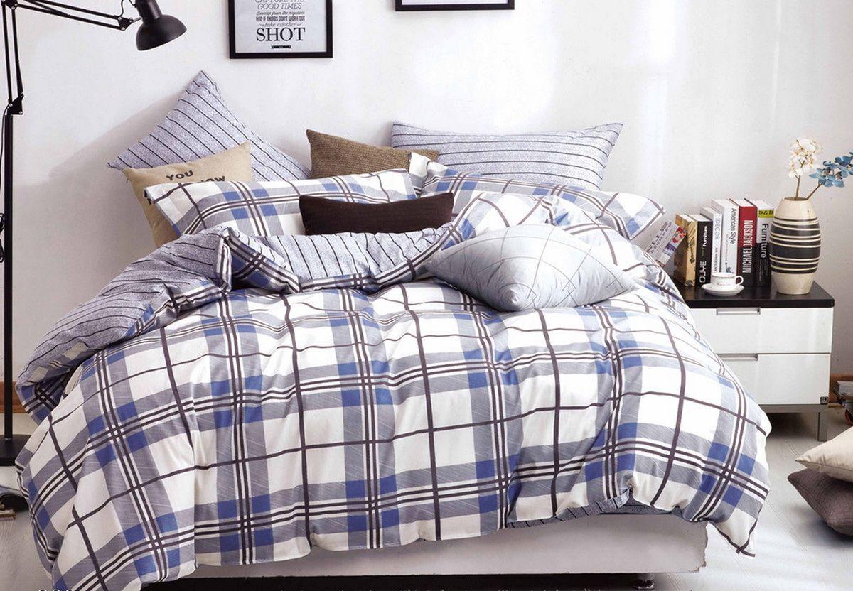Комплект белья Cleo Ориентал, 2-спальный, наволочки 70x70, цвет: синий. 20/299-SP