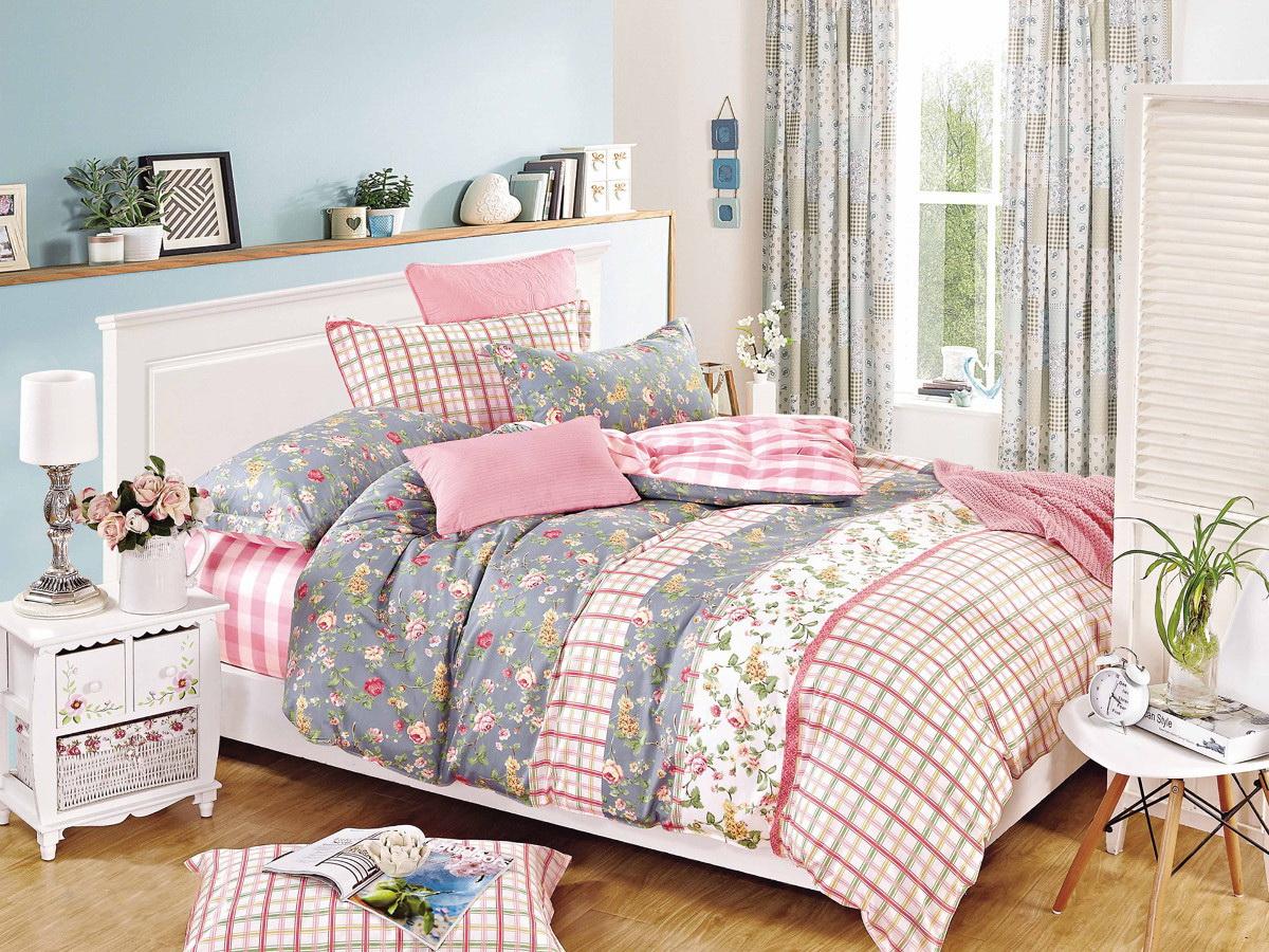 Комплект белья Cleo Феодосия, 2-спальный, наволочки 70x70, цвет: розовый. 20/303-SP