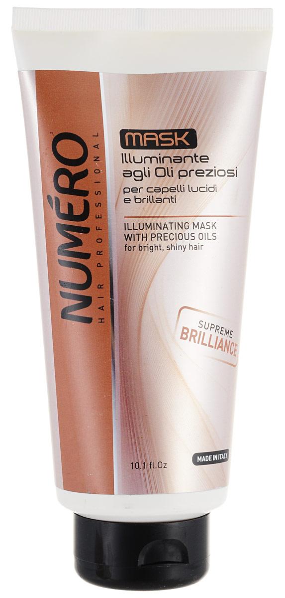 Brelil Маска для придания бриллиантового блеска с ценными сортами масел Numero Illuminating Mask With Precious Oils, 300 млB080094_Illuminating Mask