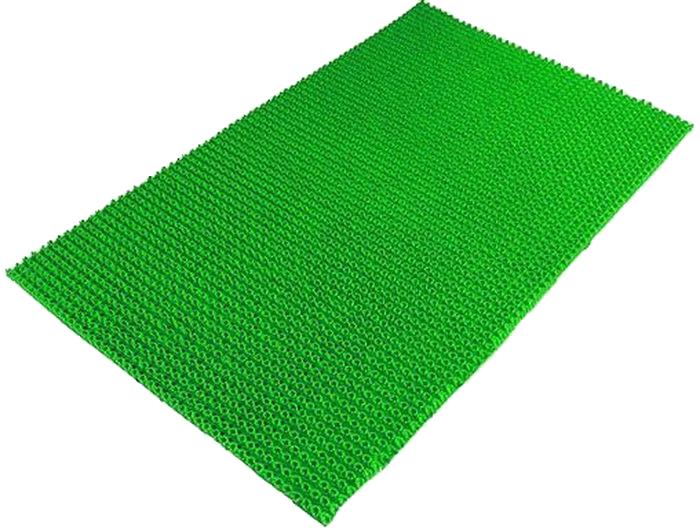 Коврик Sindbad, напольный, цвет: зеленый, 45 х 75 см. 70310503Коврик придверный 703 изготовлен из полиэтилена. Прост в обслуживании. Благодаря своей щетинистой поверхности прекрасно очищает обувь от загрязнений и защищает помещение от грязи и песка.