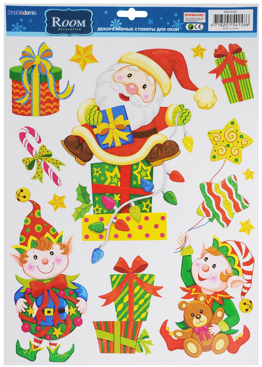 Украшение новогоднее оконное Room Decoration Санта и эльфыWDX1919CНовогоднее оконное украшение Room Decoration Санта и эльфы поможет украсить дом к предстоящим праздникам. Наклейки изготовлены из самоклеющегося поливинилхлорида. С помощью этих украшений вы сможете оживить интерьер по своему вкусу: наклеить их на окно, на зеркало. Новогодние украшения всегда несут в себе волшебство и красоту праздника. Создайте в своем доме атмосферу тепла, веселья и радости, украшая его всей семьей. Размер листа: 28,8 х 37 см. Количество наклеек на листе: 10 шт. Размер самой большой наклейки: 21,4 х 27 см. Размер самой маленькой наклейки: 3 х 3 см.