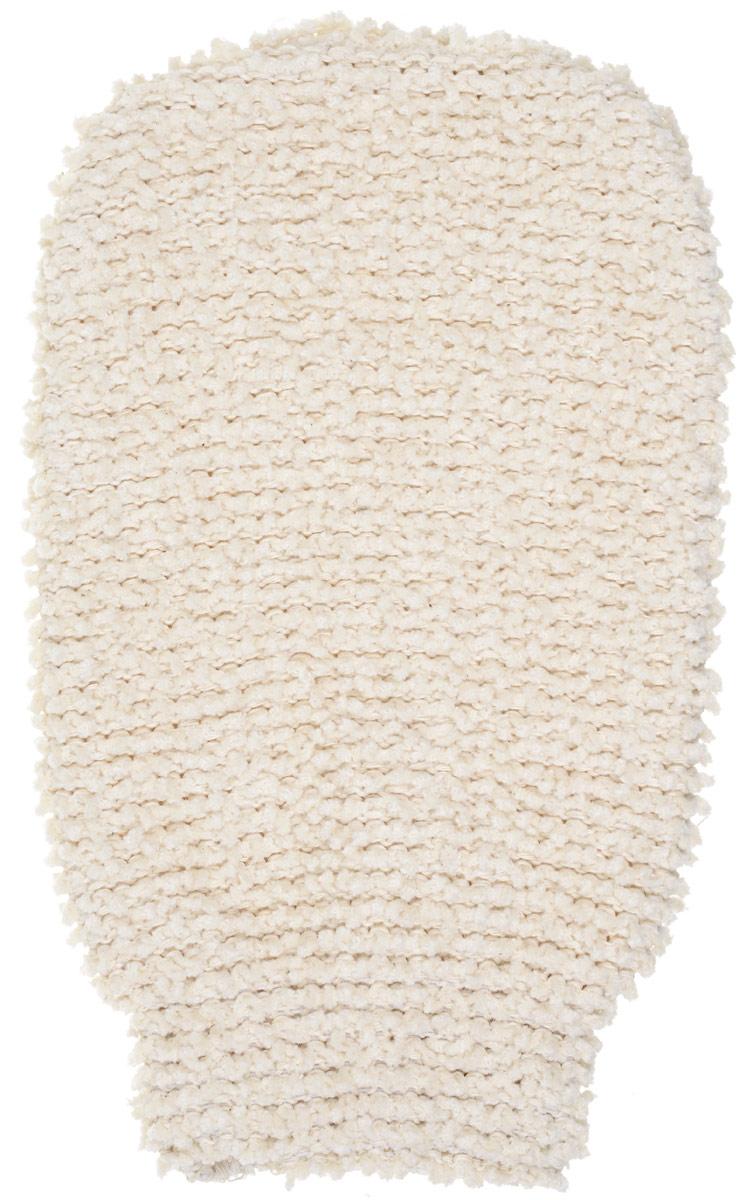Варежка из шинили Riffi для пилинга и массажа, цвет: молочный Арт. 409409_молочныйВарежка из шинили Riffi для пилинга и массажа, цвет: молочный Арт. 409