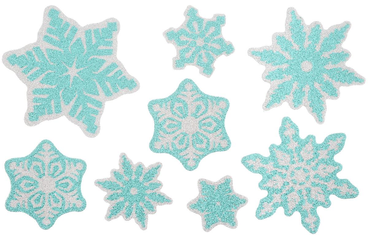 Новогоднее оконное украшение Winter Wings Снежинки, 8 штN09224Набор Winter Wings Снежинки состоит из восьми наклеек на окно, выполненных из ПВХ. С помощью наклеек Winter Wings Снежинки можно составлять на стекле целые зимние сюжеты, которые будут радовать глаз, и поднимать настроение в праздничные дни! Так же вы можете преподнести этот сувенир в качестве мини-презента коллегам, близким и друзьям с пожеланиями счастливого Нового Года! Средний размер наклеек: 9,5 х 9,5 см.