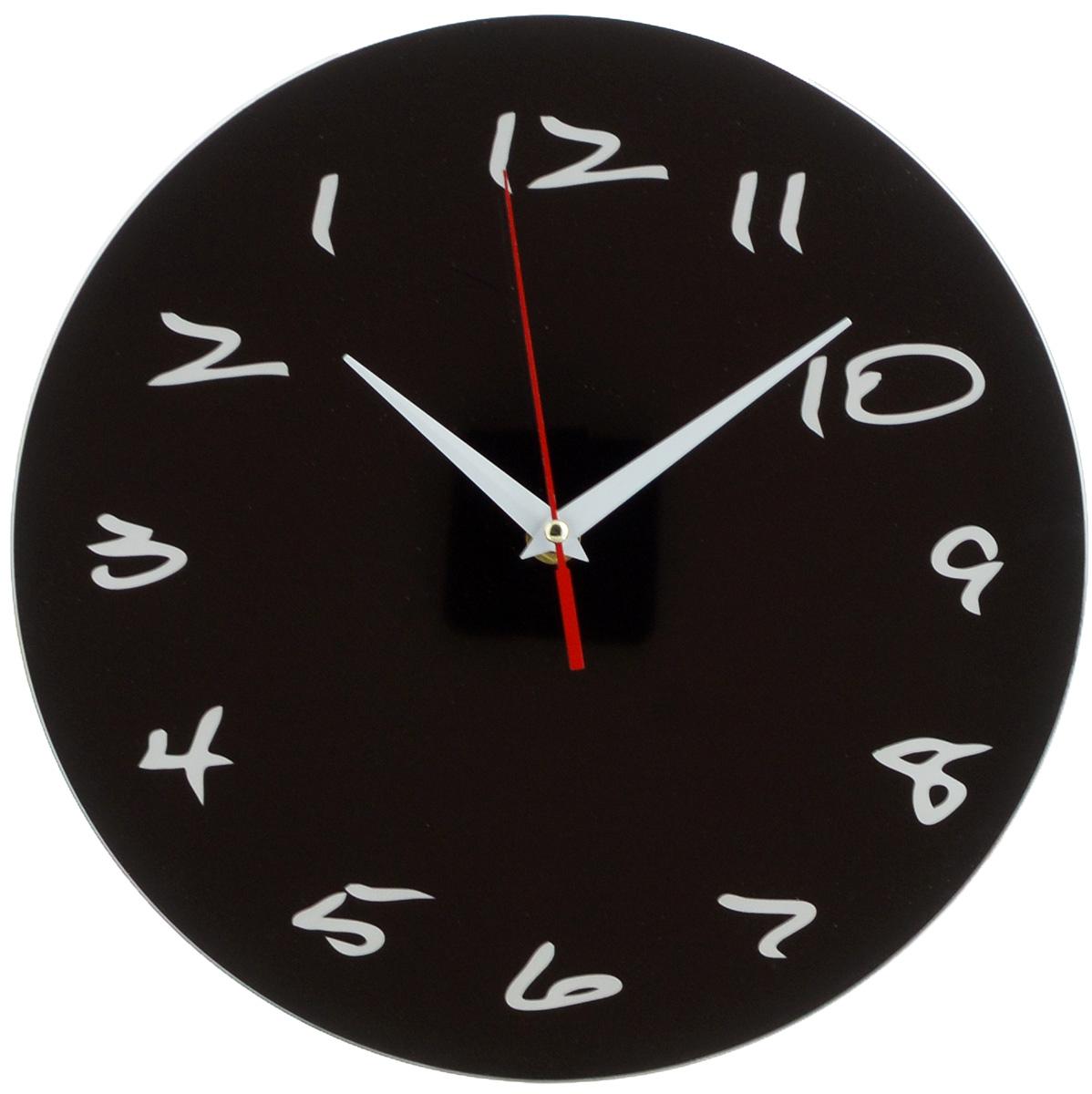 Часы настенные Эврика Античасы. Классика черная, диаметр 28 см96616Оригинальные настенные часы Эврика Античасы. Классика черная круглой формы выполнены из стекла. Часы имеют три стрелки - часовую, минутную и секундную и циферблат с цифрами. Необычное дизайнерское решение и качество исполнения придутся по вкусу каждому. Античасы. Классика черная - это не обычные часы, а часы с обратным ходом. Часы работают от 1 батарейки типа АА напряжением 1,5 В.