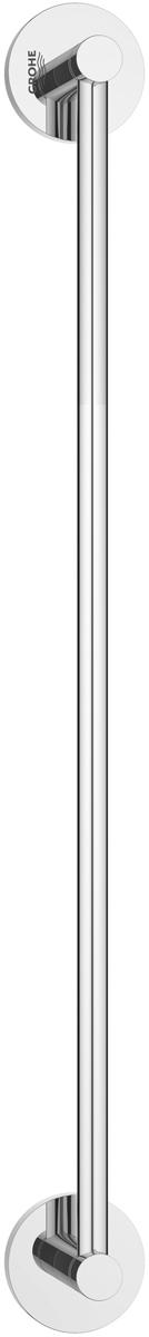 Держатель для полотенца Grohe Essentials, длина 50 см106-029Держатель для полотенца Grohe Essentials изготовлен из латуни. Держатель предназначен для полотенца средних размеров (может вмещать полотенца до 60 см шириной). Универсальный дизайн и функциональность позволит вписаться изделию и интерьер любой ванной комнаты. Держатель изготовлен с нанесением износостойкого покрытия Grohe StarLight®, устойчивого к царапинам и загрязнению. Покрытие, выполненное по специальным технологиям, придает изделию сияющий вид. Держатель крепится к стене при помощи шурупов, входящих в комплект.