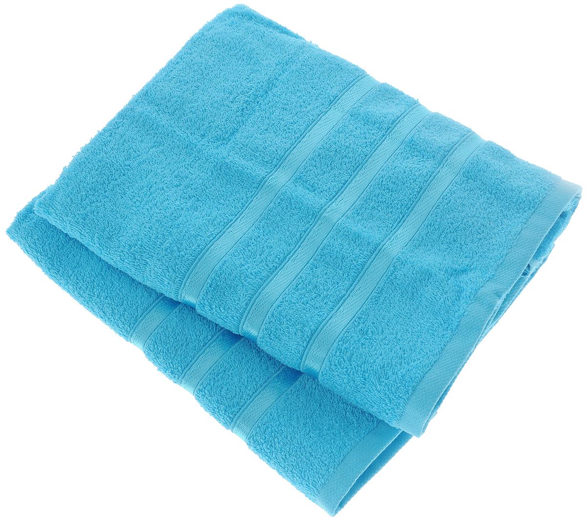 Набор полотенец Tete-a-Tete Ленты, цвет: бирюзовый, 50 х 85 см, 2 шт68/5/2Набор Tete-a-Tete Ленты состоит из двух махровых полотенец, выполненных из натурального 100% хлопка. Бордюр полотенец декорирован лентами. Изделия мягкие, отлично впитывают влагу, быстро сохнут, сохраняют яркость цвета и не теряют форму даже после многократных стирок. Полотенца Tete-a-Tete Ленты очень практичны и неприхотливы в уходе. Они легко впишутся в любой интерьер благодаря своей нежной цветовой гамме. Набор упакован в красивую коробку и может послужить отличной идеей для подарка.Размер полотенец: 50 х 85 см.