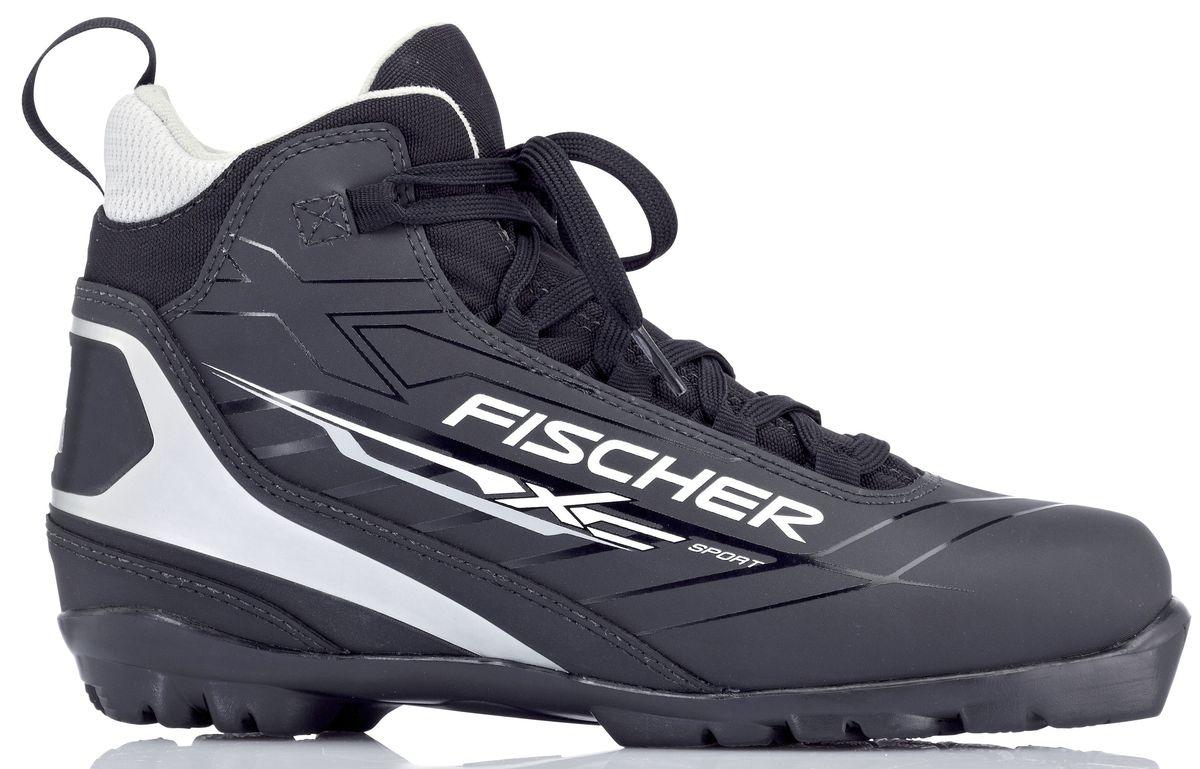 """Ботинки лыжные беговые Fischer """"XC Sport Black"""", цвет: черный, желтый, белый. S23513. Размер 46"""