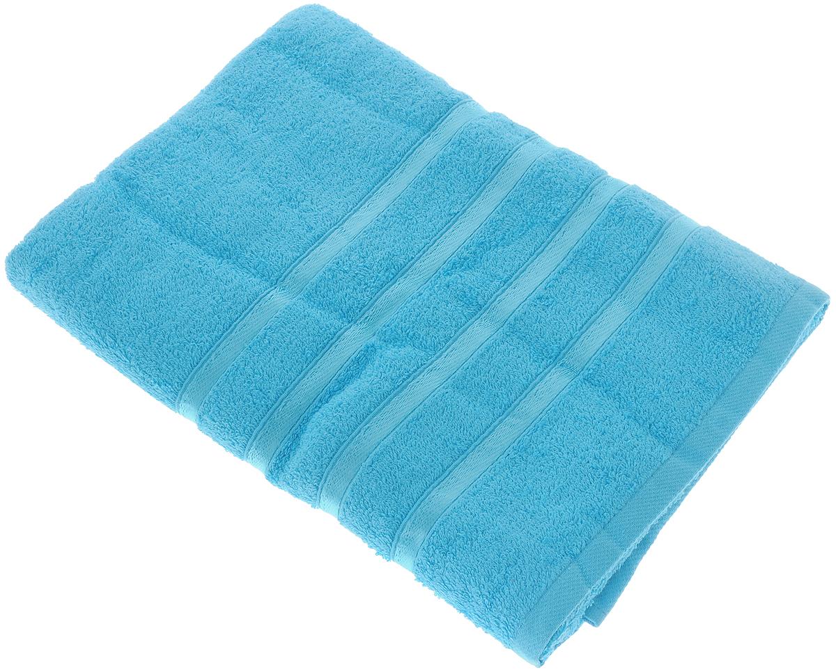Полотенце Tete-a-Tete Ленты, цвет: бирюзовый, 70 х 135 смУП-002-01Полотенце Tete-a-Tete Ленты выполнено из натуральной махровой ткани (100% хлопок). Изделие отлично впитывает влагу, быстро сохнет, сохраняет яркость цвета и не теряет форму даже после многократных стирок. Полотенце очень практично и неприхотливо в уходе. Оно станет достойным выбором для вас и приятным подарком для ваших близких.