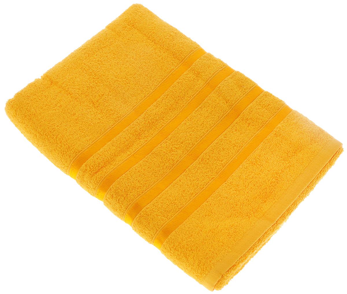 Полотенце Tete-a-Tete Ленты, цвет: ярко-желтый, 70 х 135 смУП-002-03Полотенце Tete-a-Tete Ленты выполнено из натуральной махровой ткани (100% хлопок). Изделие отлично впитывает влагу, быстро сохнет, сохраняет яркость цвета и не теряет форму даже после многократных стирок. Полотенце очень практично и неприхотливо в уходе. Оно станет достойным выбором для вас и приятным подарком для ваших близких.