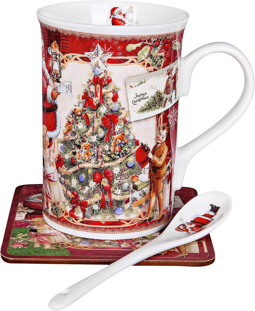 Кружка Mister Christmas Дед Мороз и дети, с ложкой, с подставкой, 3 предметаBR-M11-NНовогодняя кружка Mister Christmas Дед Мороз и дети изготовлена из высококачественного фарфора и декорирована изображением Деда Мороза с детьми и елкой. В комплект входят ложка и подставка под горячее. Такие оригинальные предметы великолепно украсят кухонный интерьер, а также станут отличным подарком для ваших друзей и близких в преддверии Нового года. Предметы упакованы в красивую подарочную коробку. Высота кружки: 11 см.