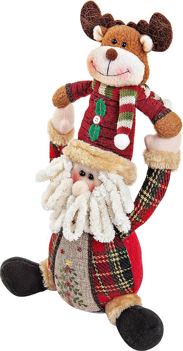 Игрушка новогодняя Mister Christmas, электромеханическая, высота 30 смCHL-243SNНовогодняя пляшущая и поющая игрушка Mister Christmas послужит оригинальным подарком в преддверии Нового года. Внешний вид сувенира весьма незатейлив. Изделие выполнено в виде Деда Мороза и оленя. При нажатии игрушка начинает двигаться в такт рождественской песни (Jingle Bells). Несмотря на столь ритмичные движения, механизм игрушки прослужит очень и очень долго. Все материалы, входящие в состав игрушки, прошли тщательные проверки и отличаются высочайшим качеством. Так же стоит отметить и то, что все материалы экологичны и безопасны. Работает от батареек (входят в комплект). Собираясь на празднование Нового года, прихватите с собой новогоднюю музыкальную игрушку Mister Christmas, ведь это подарок, который говорит сам за себя! Высота игрушки: 30 см.