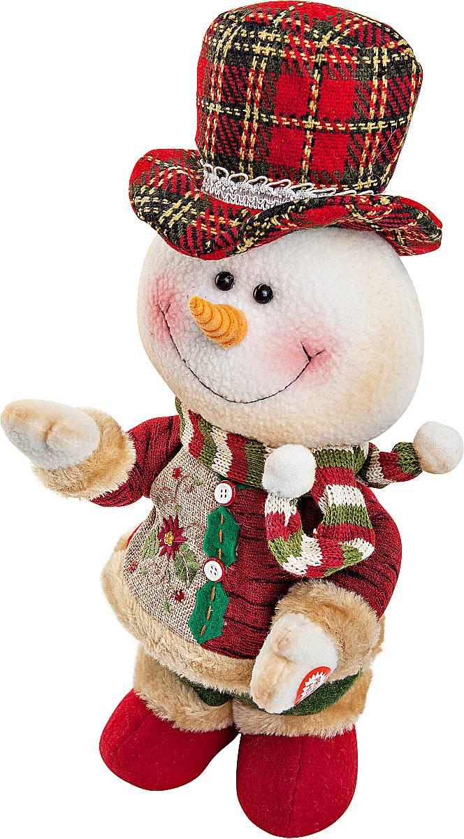 Игрушка новогодняя Mister Christmas Снеговик, электромеханическая, высота 33 смCHL-244SMНовогодняя пляшущая и поющая игрушка Mister Christmas Снеговик послужит оригинальным подарком в преддверии Нового года. Внешний вид сувенира весьма незатейлив. Изделие выполнено в виде снеговика и дополнено шляпой. При нажатии игрушка начинает двигаться в такт песни (PSY - Gangnam Style). Несмотря на столь ритмичные движения, механизм игрушки прослужит очень и очень долго. Все материалы, входящие в состав игрушки, прошли тщательные проверки и отличаются высочайшим качеством. Так же стоит отметить и то, что все материалы экологичны и безопасны. Работает от батареек (входят в комплект). Собираясь на празднование Нового года, прихватите с собой новогоднюю музыкальную игрушку Mister Christmas Снеговик, ведь это подарок, который говорит сам за себя! Высота игрушки: 33 см.