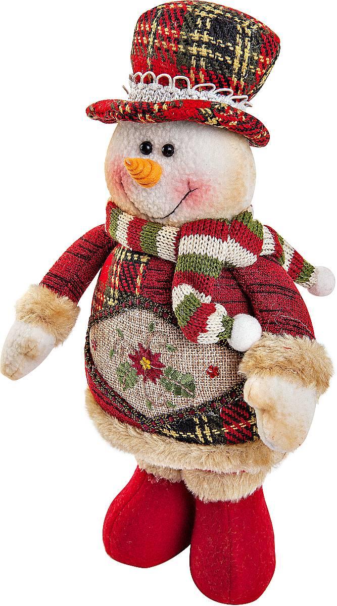 Игрушка новогодняя мягкая Mister Christmas Снеговик, высота 28 смCHL-500SMМягкая новогодняя игрушка Mister Christmas Снеговик, изготовленная из текстиля, прекрасно подойдет для праздничного декора дома. Изделие можно разместить в любом понравившемся вам месте. Новогодняя игрушка несет в себе волшебство и красоту праздника. Создайте в своем доме атмосферу веселья и радости, украшая дом красивыми игрушками, которые будут из года в год накапливать теплоту воспоминаний. Высота игрушки: 28 см.