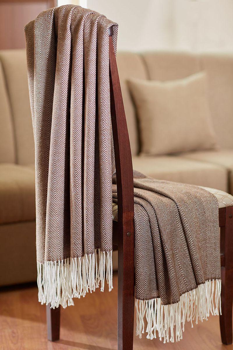 Плед Primavelle Woolen, цвет: коричневый, 130 х 190 см4690400073603Плед Woolen с акрилом и виргинской шерстью - истинное сокровище. Плед согреет Вас холодными зимними вечерами. Порадуйте себя и своих близких прикосновениями к шедевру. Классический дизайн пледа прекрасно впишется в любой интерьер. Удобный каминный плед.