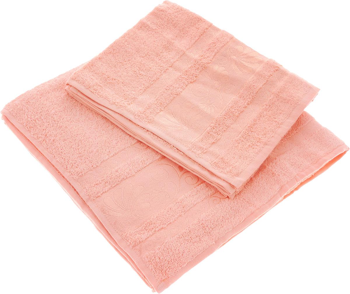 Набор полотенец Tete-a-Tete Цветы, цвет: светло-розовый, 2 шт. УНП-103УНП-103-04Набор Tete-a-Tete Цветы состоит из двух махровых полотенец, выполненных из натурального 100% хлопка. Бордюр полотенец декорирован цветочным узором. Изделия мягкие, отлично впитывают влагу, быстро сохнут, сохраняют яркость цвета и не теряют форму даже после многократных стирок. Полотенца Tete-a-Tete Цветы очень практичны и неприхотливы в уходе. Они легко впишутся в любой интерьер благодаря своей нежной цветовой гамме. Размеры полотенец: 70 х 140 см, 50 х 90 см.