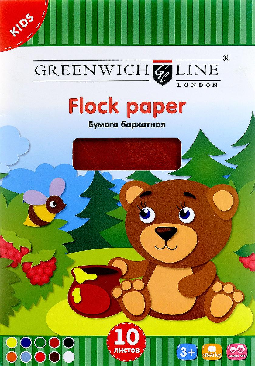 Greenwich Line Цветная бумага бархатная 10 листов формат А572523WDБархатная цветная бумага Greenwich Line формата А5 идеально подходит для детского творчества: создания аппликаций, оригами и многого другого.В упаковке 10 листов бархатной бумаги 10 цветов. Бумага упакована в картонную папку.Детские аппликации из цветной бумаги - отличное занятие для развития творческих способностей и познавательной деятельности малыша, а также хороший способ самовыражения ребенка.Рекомендуемый возраст: от 3 лет.