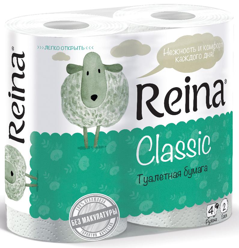 Бумага туалетная Reina Classic, двухслойная, 4 рулонаКальсоны Verticale POLARДля личной гигиены