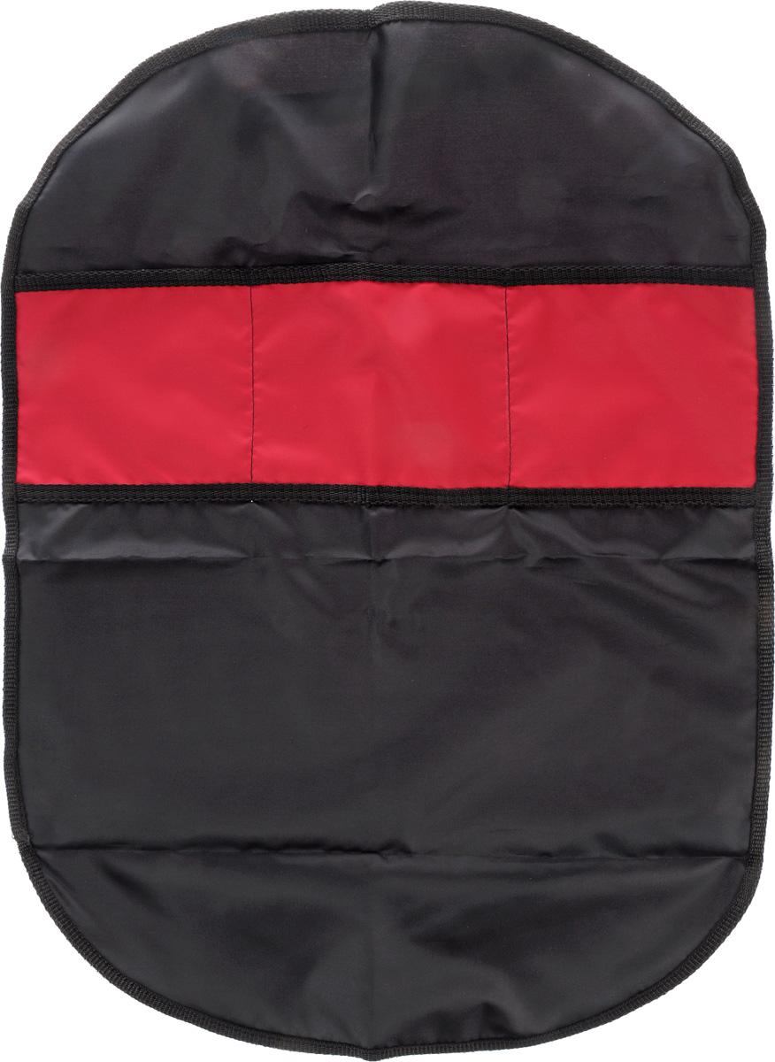 Органайзер автомобильный Главдор, на спинку сиденья, цвет: черный, красный, 61 х 44 смGL-442Плоский автомобильный органайзер Главдор с тремя карманами, выполненный из ткани оксфорд, предназначен для размещения на спинку сиденья. Закрепляется при помощи эластичных лент. Органайзер позволит компактно упаковать большое количество вещей. Сохранит свободное пространство машины. Размер органайзера: 61 х 44 см.