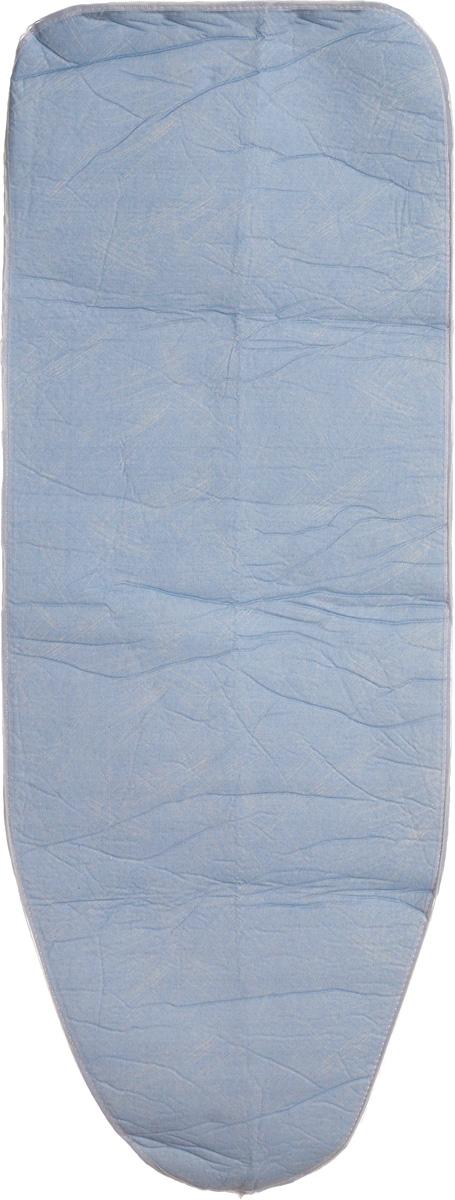 Чехол для гладильной доски Paterra, антипригарный, с поролоном, цвет: голубой, белый, 126 х 46 см402-485Антипригарный чехол для гладильной доски Paterra необходим для обеспечения идеального результата в процессе глажения вещей. Он имеет хлопковую основу с особой антипригарной пропиткой из силикона, которая исключает пригорание одежды к чехлу в процессе глажения. Силиконовая пропитка обеспечивает эффект двустороннего глажения: чехол, нагреваясь, отдает тепло вещам. Натуральный хлопок в составе обеспечивает максимальную скорость скольжения утюга и 100% паропроницаемость. Хлопковый чехол имеет подкладку из поролона (мягкого пенополиуретана) оптимальной толщины (4 мм), которая не истончается со временем. Затяжной шнур определяет удобную и надежную фиксацию чехла на доске. Кроме того, наличие шнура делает чехол пригодным для гладильной доски любой формы и меньшего размера. Край хлопкового чехла обработан особой лентой, предотвращающей распускание ткани. Устойчивый рисунок сохраняется длительное время, даже под воздействием высоких температур. Размер чехла: 126 х 46 см. Размер...