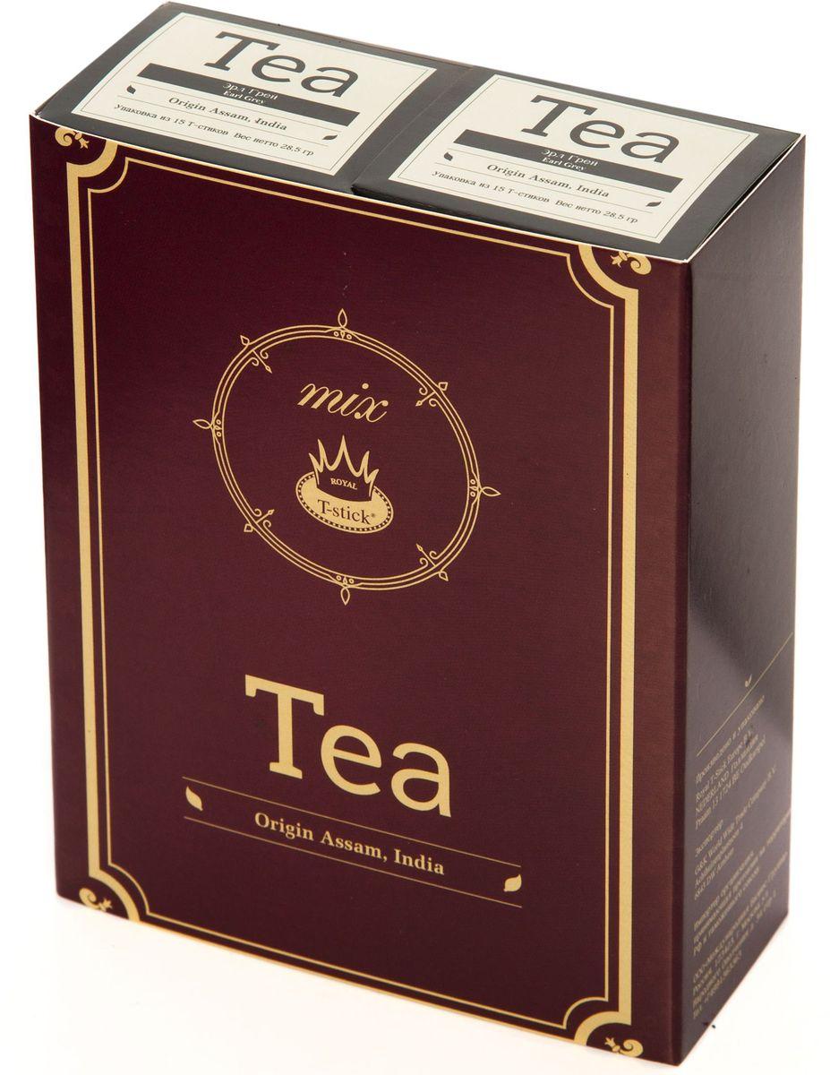 Подарочный набор Royal T-Stick: Earl Grey черный чай и Earl Grey черный чай в стиках, 30 шт77200Подарочный набор из 2 пачек чая премиум класса упакован в коробку для транспортировки. Чай Ассам с бергамотом порадует вас насыщенным янтарно- красным цветом, терпким ароматом бергамота и пряным, солодово-медовым вкусом. Чай обладает тонизирующим свойством. Чай упакован в пищевую фольгу, которую можно использовать вместо ложечки для размешивания сахара. Опустите стик в кипяток, оставьте на 3 минуты, размешайте кусочек сахара. Достаньте стик из стакана, потрясите им о край стакана, так, чтобы стекли последние капли, и положите рядом. Вся влага останется внутри стика. Прекрасный подарок родным и близким и отличный повод удивить коллег по работе и друзей, внедряя новую, элегантную культуру чаепития!
