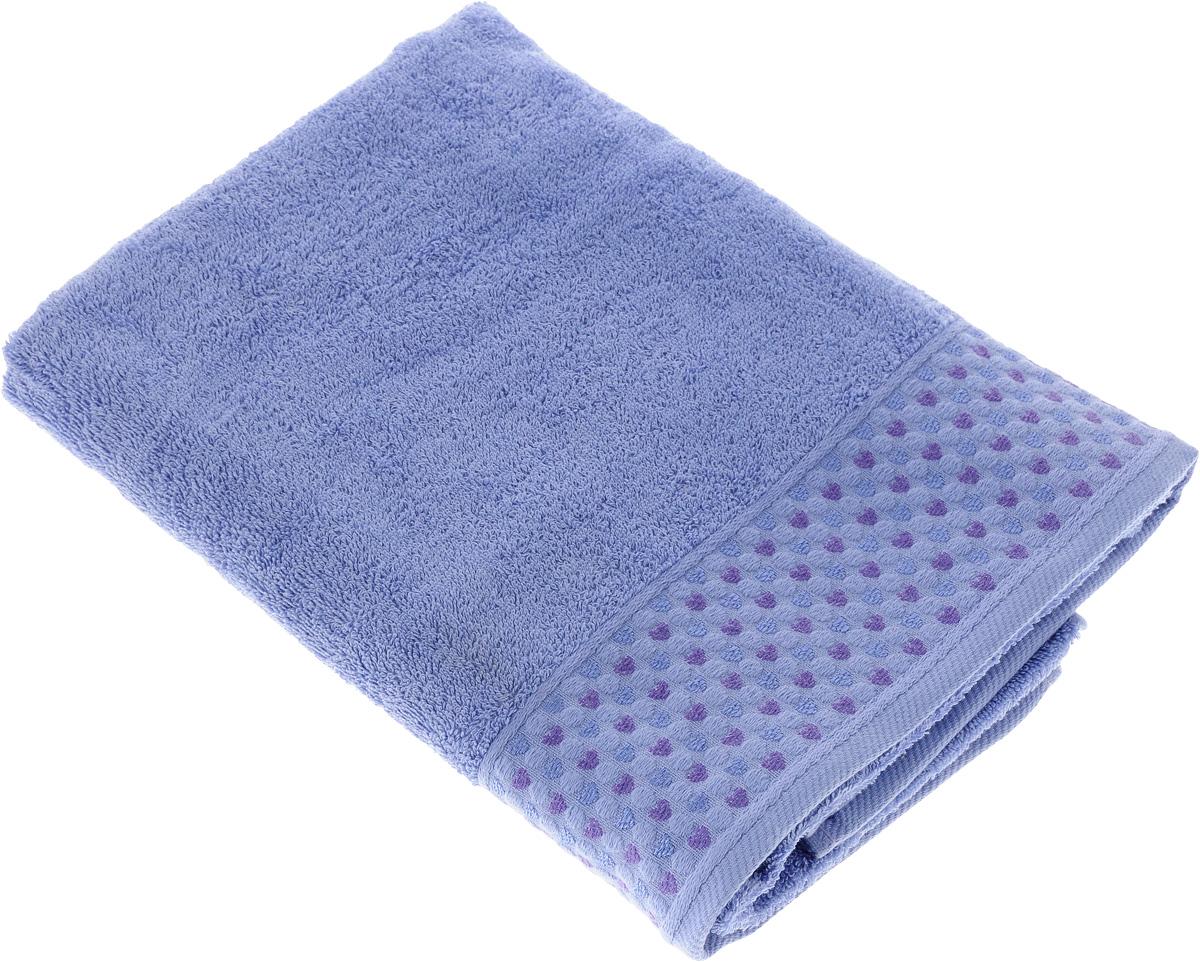 Полотенце Tete-a-Tete Сердечки, цвет: сиреневый, 50 х 90 смУП-007-05кМахровое полотенце Tete-a-Tete Сердечки, изготовленное из натурального хлопка, подарит массу положительных эмоций и приятных ощущений. Полотенце отличается нежностью и мягкостью материала, утонченным дизайном и превосходным качеством. Линейка Сердечки декорирована бордюром с сердечками и горошком, полотенце выполнено в пастельном тоне. Полотенце прекрасно впитывает влагу, быстро сохнет и не теряет своих свойств после многократных стирок. Махровое полотенце Tete-a-Tete Сердечки станет прекрасным дополнением в дизайне ванной комнаты. Полотенце, упакованное в красивую коробку, может послужить отличной идеей подарка.